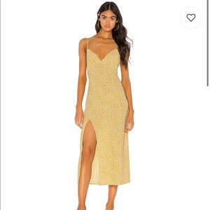Endless Rose Harper Slip Dress in Yellow